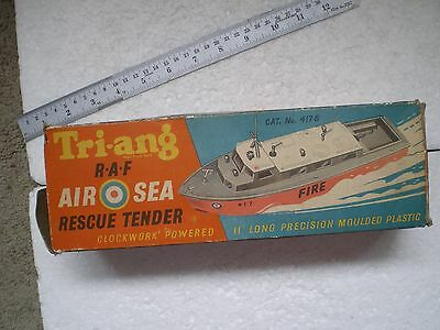 R.a.f. Air Sea Rescue Tender Clockwork Launch By Triang - Boxed