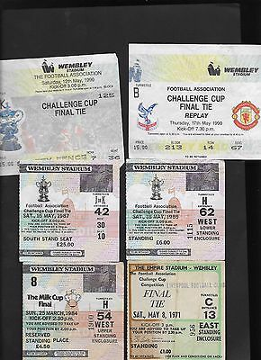 Ticket 1990 Fa Cup Final Manchester United V Crystal Palace