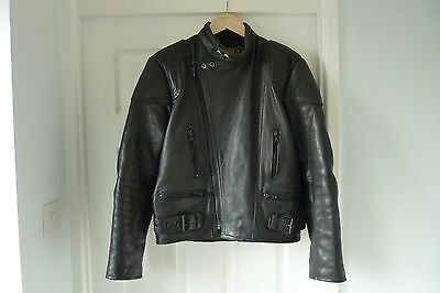 Leather Motorcycle Jacket by JTS size 40