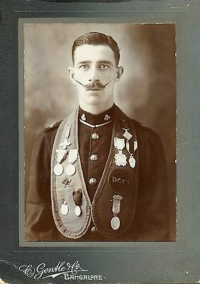 Queens own Cameron Highlanders  - Military Soldier Scottish india - medals