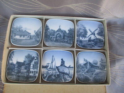 Bing & Grondahl Copenhagen Set of 6 Wall Plaques