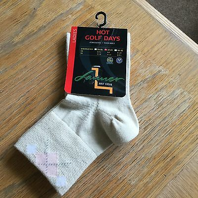Ladies Lanner golf socks Hot Golf Days thin sole size 4-5(37-39) New