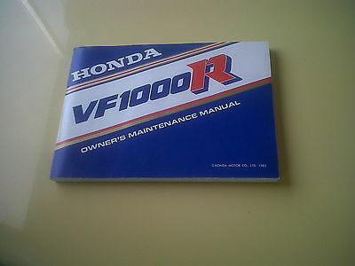 Honda VF1000R Owners Handbook Manual