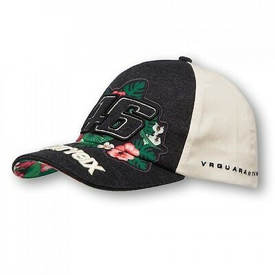 OFFICIAL Valentino Rossi Moto GP VR46 Ladies Womens Flower Floral Cap Hat - NEW