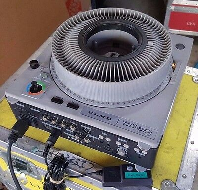 Elmo Transvideo TRV35H Color CCD Projector Transfers Slides to Video w/ Remote
