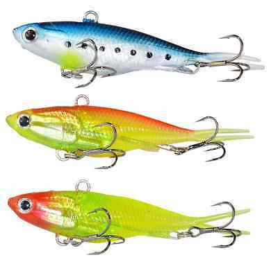 3x Soft Vibes Soft Plastic Fishing Lures 95mm 20g Snapper Barra Lure Tackle