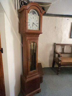 Lovely Cherry 8-Day LONGCASE GRANDFATHER CLOCK, 1980's traditional design in FWO