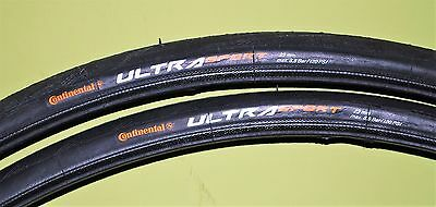 1 Pair Of Continental Ultra Sport II Racing/Road Bike Tyres 700cx23c