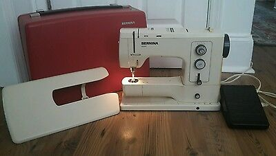 Bernina Record 830 Electronic Sewing Machine w/ Pedal, Cord and Red Case