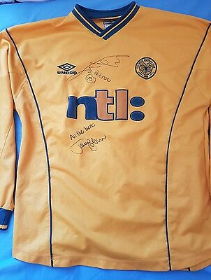 Celtic 2000 2001 Signed Away Shirt Stiliyan Petrov Johnson