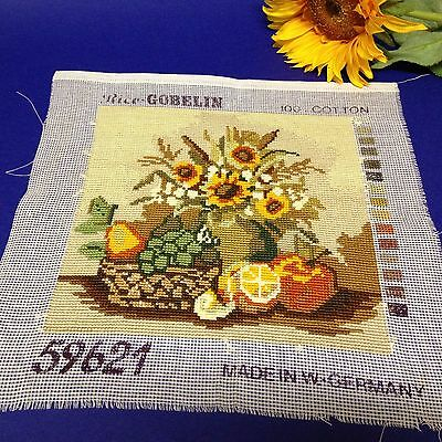 W German Vintage - 20 x 20 Completed Rico Gobelin Cross Stitch Tapestry  #59621