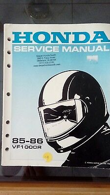 Honda VF1000R Factory Workshop Manual