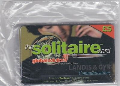 BT Phonecard SOL001 Landis & Gyr Solitaire £5 sealed pack of 5 cards