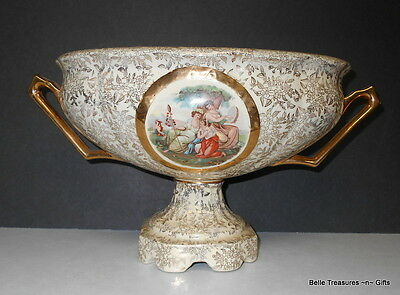 Empire England Ivory Victorian Compote 1940's