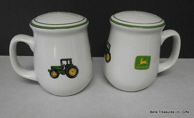 Large John Deere Tractor Salt and Pepper Shakers