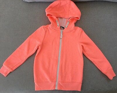 Girls Bright Orange Hooded Jacket/Hoodie, age 4-5 years
