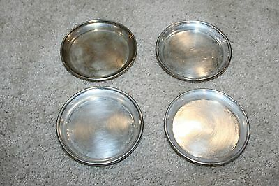 Antique Set of 4 J. Wagner & Sohn 800 Silver Coasters Germany 216 g