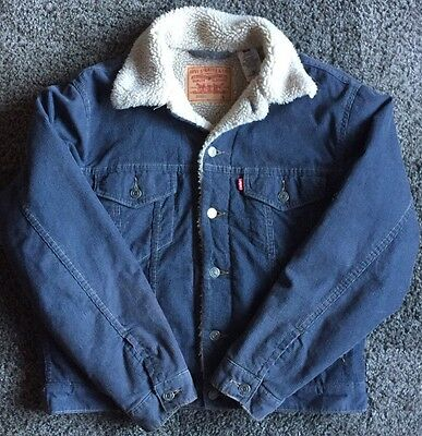 LEVIS JACKET Blue Cord.Small