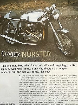 Norton / Harley Cafe Racer - Builders Story - 6 Page Motorcycle Artical