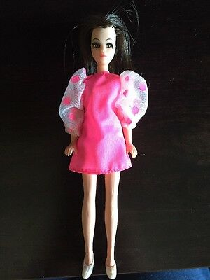 Vintage Topper Dawn Doll Original Angie Pretty In Pink  BAll Gown 1970