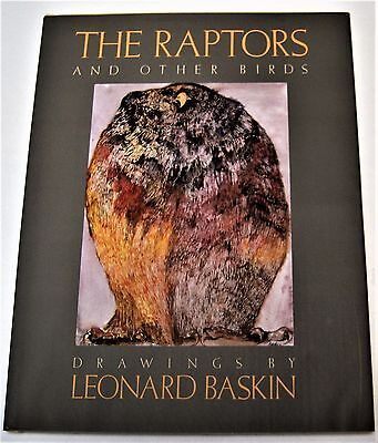 THE RAPTORS and Other Birds SIGNED BY LEONARD BASKIN first edition 1985