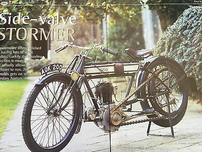 """Norton 1912 Side Valve """"old Miracle"""" - 6 Page Motorcycle Article / Test"""