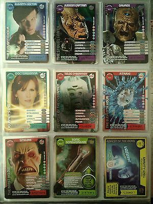 Doctor Who Monster Invasion Complete 17 Rare Foil Set B.B.C.MAGAZINE