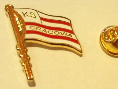 Football pin badge Cracovia Kraków (Poland)