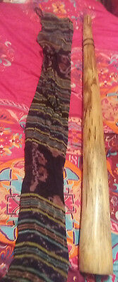 Solid wood large Didgeridoo with carry case