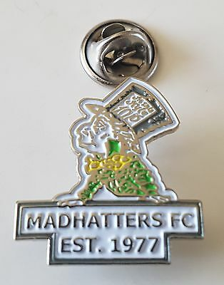 Football pin badge Madhatters FC (New Zealand)