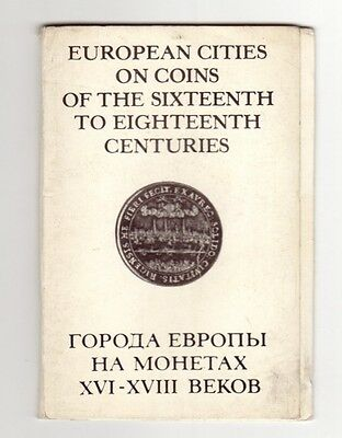 European Cities on Coins of the 16-18th centuries. 16 postcards in the folder