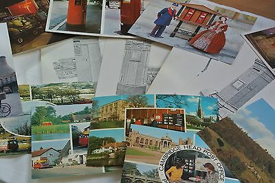 Collection of 14 vintage Royal Mail postcards colour & black & white
