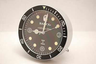A Bathing APE Round Small Desk Clock Bape BAPEX made by human [used] F/S Japan