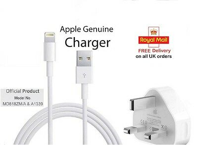 100% Genuine Apple Sync Adapter & Charger USB Data Cable For iPhone 6 5 5S iPad
