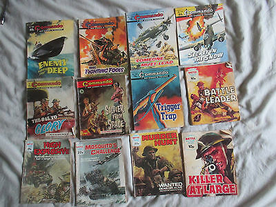 12 Vintage Commando & Battle Picture Library Job Lot Bundle Quite Early Issues