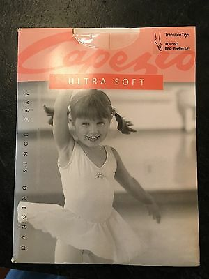 NEW CAPEZIO TRANSITION 1816C  TIGHTS Ballet Pink Fits Size 8-12