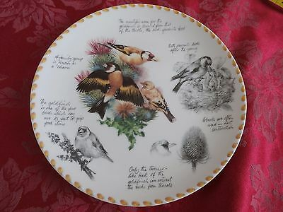 Wedgwood the Birdwatcher's notebook collector's plate by Eric Robson the Goldfin