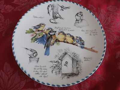 Wedgwood the Birdwatcher's notebook collector's plate the Blue Tit