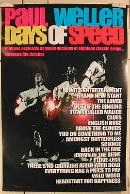 Weller Paul - Days Of Speed - 50x76cm - AFFICHE / POSTER VINTAGE envoi roulé