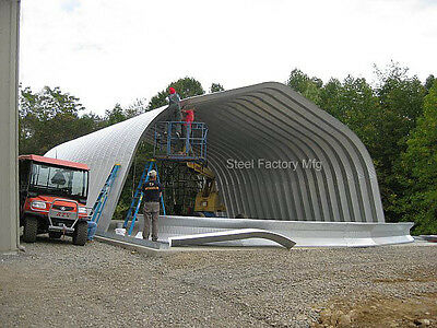 Steel Gambrel Arch 40x60x18 Construction Equipment Storage Building Kit A-Series