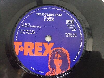 "T Rex - Telegram Sam 7"" Vinyl Single Record"