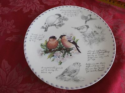 Wedgwood the Birdwatcher's notebook collector's plate by Eric Robson the Bullfin