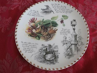Wedgwood the Birdwatcher's notebook collector's plate by Eric Robson the Wren