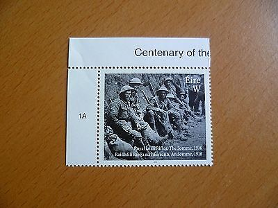 Ireland Stamps : 2016 Centenary of the Battle of the Somme MNH