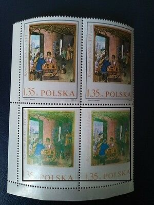 China   POLSKA      ERROR   BLK4     STAMPS