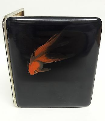 Signed Namiki - Dunhill Distributed Goldfish Lacquer Cigarette Case