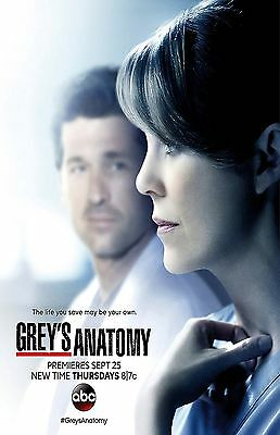 GREYS ANATOMY  11X17 Movie Poster collectible her face