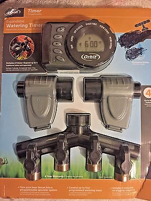 Orbit Expandable Watering Timer Manual Override Electronic Digital battery NEW!!