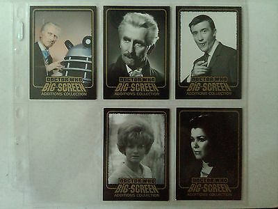 Doctor Who Big Screen Additions 5 Gold Inked Cards Lot Strictly Ink - 2008