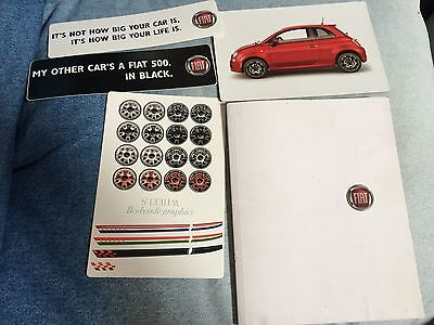 Fiat 500 Brochure 110 pages with extras